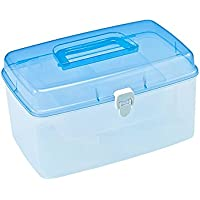GJ@ + Medizin-Box Portable Haushalts Medizin Aufbewahrungsbox Kunststoff-Erste-Hilfe-Box Griff Design Multi-graue... preisvergleich bei billige-tabletten.eu