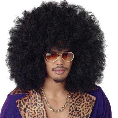 240g XXL Perruque afro Tête bouclée perruque afro Boucle perruque Carnaval noir