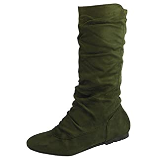 Ladies Mid Calf Boots | Slouch Boots Women | Pixie Boots Women | Ladies Pull On Boots | Rouched Boots for Women | Long Boots for Womens