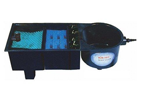 AquaForte Vortex 16000 Mehrkammerfilter, schwarz, max. Teichgröße 16m³, max. Durchfluss 4,5m³/h