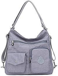 7e79da376 Outreo Mujer Bolsos de Moda Impermeable Mochilas Bolsas de Viaje Bolso  Bandolera Sport Messenger Bag Bolsos Baratos Mano para Tablet Escolares…