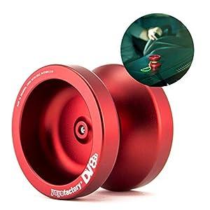 YoyoFactory DV888 Yo-yo - Rojo (Genial para Principiantes, Juego Yoyo Moderno, Cuerda e Instrucciones Incluidas)