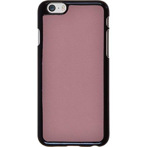 PhoneNatic Case für Apple iPhone 6s / 6 Hülle rosa Lederoptik Hard-case für iPhone 6s / 6 + 2 Schutzfolien Rosa