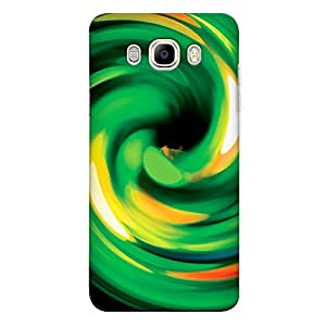 DASM United Samsung J7 2016 Premium Back Case Cover - Abstract Green Spiral