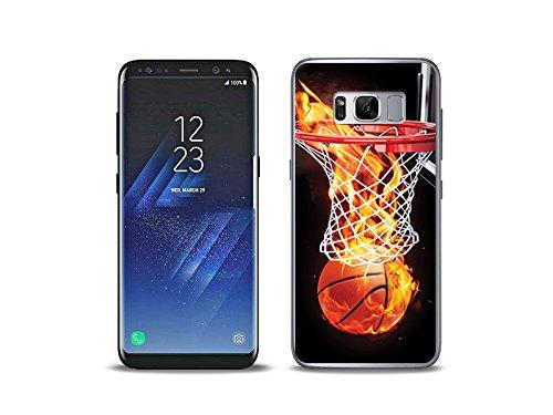 etuo Samsung Galaxy S8 Handyhülle Schutzhülle Etui Hülle Case Cover Tasche für Handy Foto Case - Zeit für Basketball