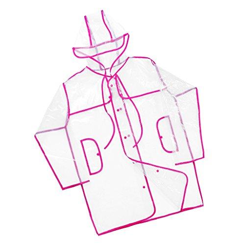 Prettyia Adulti Giacche Impermeabili Cappotto Di Pioggia Campeggio Sport Ciclismo Rosa