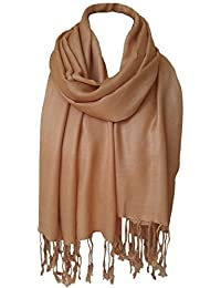 6b3a33143 World Of Shawls Unisex Plain Pashmina Scarf Shawl Stole Wrap High Quality  100% Viscose Factory