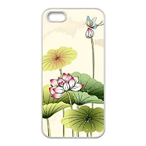 Beautiful lotus Personalized Cover Case with Hard Shell Protection for Iphone 5,5S Case lxa#892841
