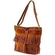 5701238fd8 Tellaboull for Le donne imitano la borsa della spalla della nappa della  frangia della pelle scamosciata