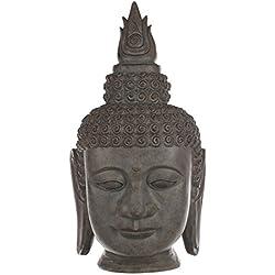 Cabeza de Buda en meditación Antracita