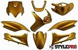 verkleidungs Juego Styl epro para Yamaha Jog R 50Ac RR 50Lc (9piezas) de oro metálico