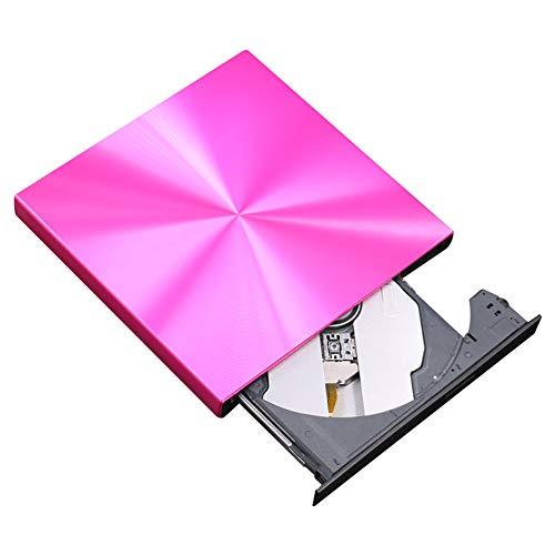 SHIYN Externes CD-DVD-Laufwerk, USB3.0 Ultraflacher, Tragbarer Brenner/Brenner, Kompatibel Mit Laptop, USB-Laufwerke Für Die Hochgeschwindigkeitsdatenübertragung,Pink (Rosa Laptop-computer Mit Dvd)