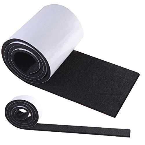 Möbel Schaukelstuhl (Filzgleiter Selbstklebend Schwarz, HTBAKOI Filz Selbstklebend 2 Rollen Filzband (100 * 10cm+100 * 2cm) Schneiden Sie es frei in jede Form als Möbelgleiter mit starker Haftung aus umweltfreundlichem)