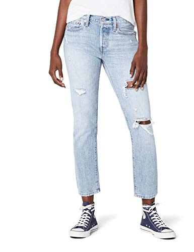 Levi's 501 taper, jeans dritti donna, blu (so called life 0023), w24/l28