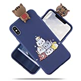 MoEvn Coque Silicone iPhone XS Max 3D Ultra Mince Etui, iPhone XS Max Souple TPU...