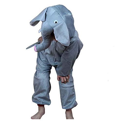 Kinder Tierkostüme Jungen Mädchen Unisex Kostüm Outfit Cosplay Kinder Strampelanzug (Elefant, XL (Für Kinder von 120 bis 140 cm)) (Kinder Elefanten Kostüme)