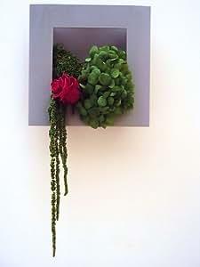 CADRE TABLEAU VEGETAL HORTENSIA ROSE fleurs naturelles préservées stabilisées