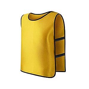 ruiruiNIE Kinder Kid Team Sports Fußball Fußballtraining Pinnies Trikots Train Bib Vest – Gelb