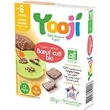 YOOJI - Boeuf haché cuit Bio Yooji - 12 x 10 g - Surgelé