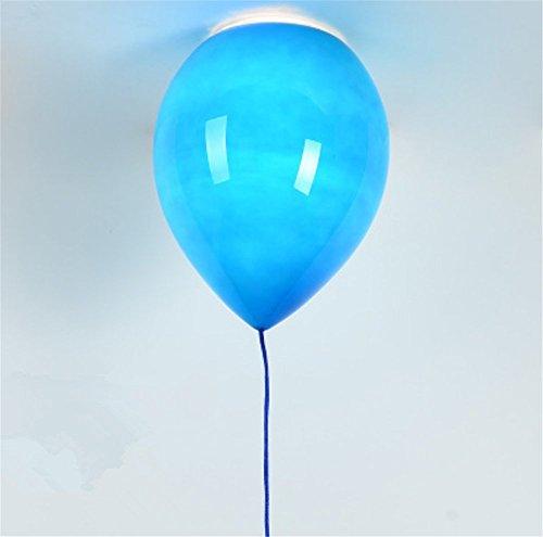 der platz,Glas lampenschirm,party, bar, festival - Der Ballon deckenleuchte,1XE27,40W,5 farbe (gelb, Blau,weiß, orange, rot und grün) (Laden Halloween)
