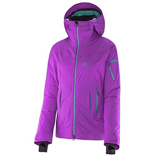 Salomon Damen Outdoor Daunen Jacke Soulquest BC Down Jacket (little violette, L) (Jacke Beste Down)