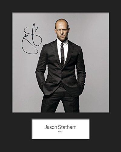 FRAME SMART Jason Statham   Signierter Fotodruck   10x8 Größe passt 10x8 Zoll Rahmen   Maschinenschnitt   Fotoanzeige   Geschenk Sammlerstück -