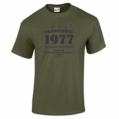 T-shirt da uomo da 40esimo compleanno Produzione 1977 - Maglietta