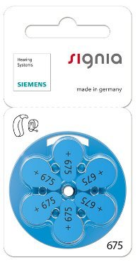 Siemens Signia Hearing Aid Battery 675(60PCS)  available at amazon for Rs.1999