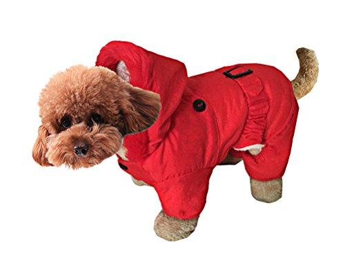 OSPet Pet Windbreaker Jacke Winter Mantel für Hund Katze Puppy Pet Rot, S, Red Jacket