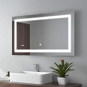 Badezimmerspiegel Beleuchtet 80×100 | Deine-Wohnideen.de