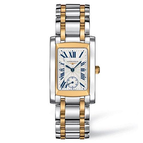 Longines Dolce Vita - Reloj de pulsera para mujer, esfera plateada, dos tonos, L55025707