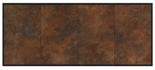Dekati Sideboard Lakewood hängend (180x77x35cm) Korpus anthrazit matt   Front rostigen Industrie-Design   Push-to-Open