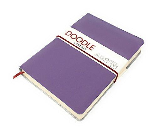 Artway Doodle - Tagebuch/Skizzenbuch - Zeichenpapier - Umschlag aus weichem Echtleder - 175 x 125 mm...