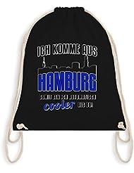 Städte - Ich komme aus Hamburg - Turnbeutel I Gym Bag