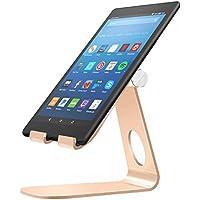 MoKo Soporte para Kindle Fire Tablet/E-Reader,Titular de Aluminio Giratorio de ángulo múltiple de 210°para Kindle Fire 7 2017/ HD8 2017/ HD10 2017/Kindle Paperwhite/Oasis 2017/Voyage, Oro