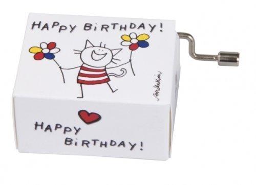 Fridolin 58342 Spieluhr Happy Birthday / Katze -