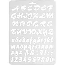 Plantillas de dibujo de letras del alfabeto de Runrain para pintar en la pared, álbumes