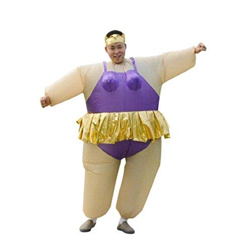 Fasching Zweite Haut Anzug ,ZEZKT Maskenkostüm Sumo Wrestler Halloween Aufblasbares Kostüm Sumo-Kostüm für Erwachsene (Halloween Aufgeblasen Kostüm)