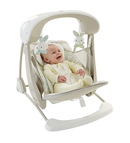 Mattel-Fisher-Price-DKD86-Deluxe-2-in-1-Babyschaukel-kompakt-beige