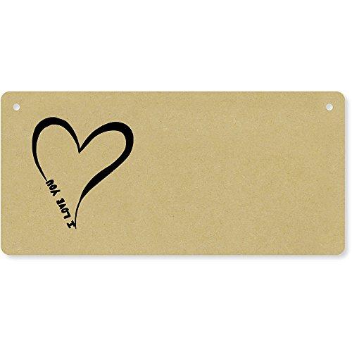 Azeeda 'I Love You' Holzwand Plakette / Türschild (DP00006268)