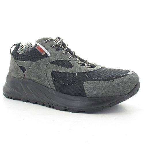HML  Motus, Chaussures de ville à lacets pour femme gris/noir