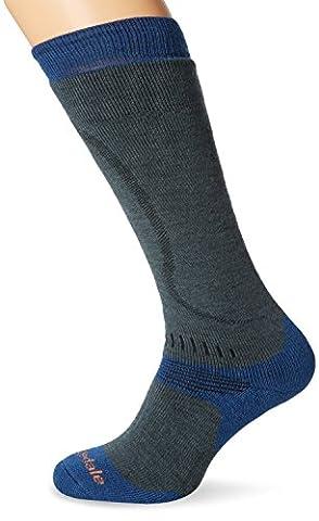 Bridgedale Ski All Mountain Men's Ski Socks - Gunmetal/Midnight, Size
