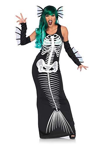 Leg Avenue Skelett Kostüm - Leg Avenue 86690 Skeleton Siren Damen kostüm, Schwarz, XL (EUR 44-46)