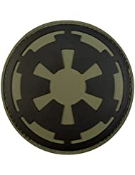 Star Wars Galactic Empire Olive Drab OD Imperial Logo PVC Rubber 3D Velcro Patch