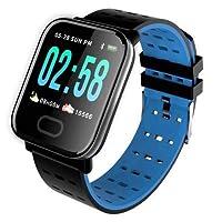 A6 Sport Smart Watch Akıllı Saat Su Geçirmez, Tansiyon ve Nabız (Mavi)