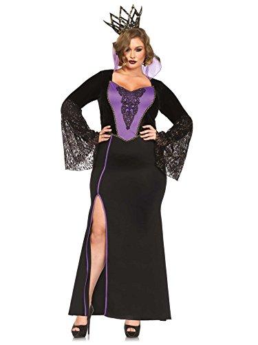 Böse Königin Damenkostüm Märchen Plus Size schwarz-lila (Kostüm Königin Plus Böse Size)