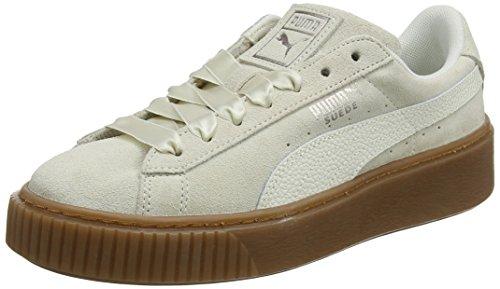 Puma Damen Suede Platform Bubble Sneaker, Beige (Marshmallow), 41 EU -