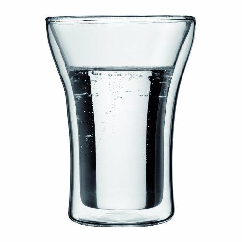 Bodum ASSAM 2-teiliges Kaffeeglas-Set (Doppelwandig, Mundgeblasen, Spülmaschinengeeignet, 0,25 liters) transparent