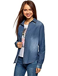 Ropa Camisas Amazon 44 De Mujer es Jeans Mujer Fxq50f8x