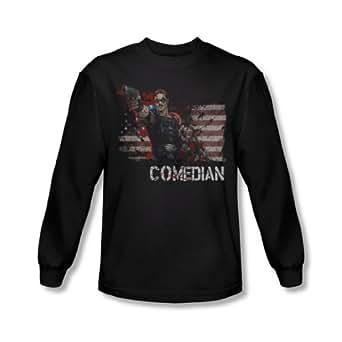 The Watchmen - Mens Comedian Long Sleeve Shirt In Black, Large, Black